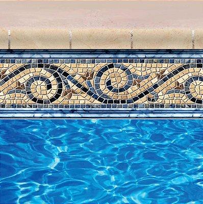 Faixa Adesiva de Piscina 2m x 20cm Design Siesta