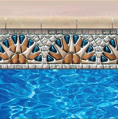 Faixa Adesiva de Piscina 2m x 20cm Design SAPPHIRE SUNSET