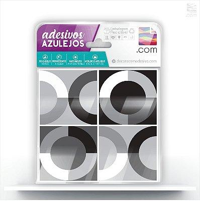 Adesivo de Azulejo Geométrico Mix Cinza