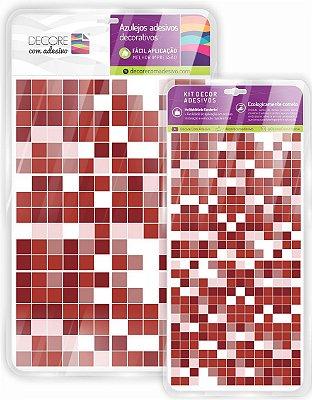 Adesivo de Azulejo Ladrilho Vermelho