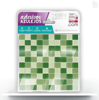 Adesivo Azulejo Ladrilho Verde Mix