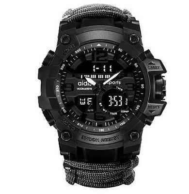 Relógio Tatico com Paracord