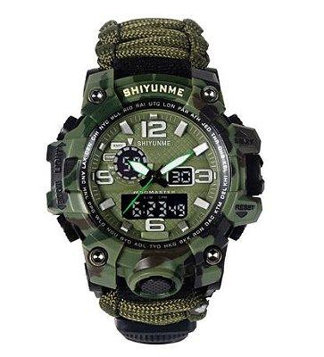 Relógio Militar Tático de Sobrevivência