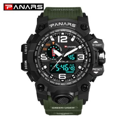Relógio Militar Masculino Verde Panars