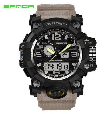 Relógio Militar Masculino Sanda 742
