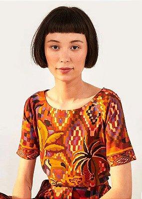 Camiseta Malha Farm Tshirt Tapecaria Animal - 295921