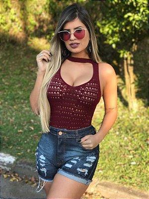 Body Bory De Tricô Tricot  Verão Roupas Femininas promoção