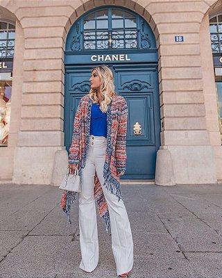 Coleção Tricot Inverno 2018 Blusa Suéter Casaco Kimono
