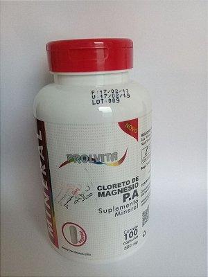 Cloreto de Magnésio P.A. 100 cápsulas  500mg