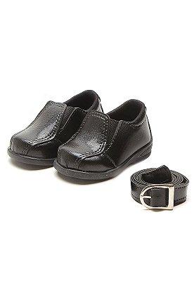 Sapato Social Infantil Masculino Para Bebê e Criança