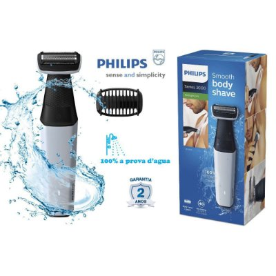 Aparador De Pelos Corporal Philips Bodygroom Bg3005/15 - 100% A Prova D'água - Uso Seco ou Molhado