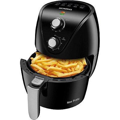 Fritadeira Elétrica Sem Óleo Air Fryer Mondial New Pratic AF-31 3,5 Litros 1500W