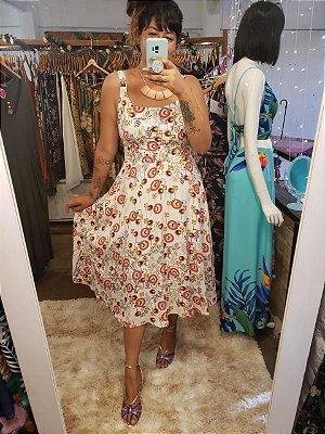 Vestido Sofia midi floral retro