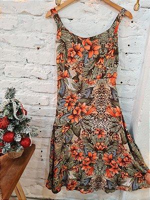 Vestido Sofia midi hibisco