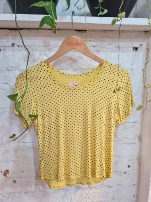 T-shirt poa amarelo