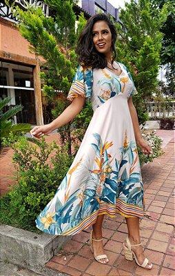 Vestido Veneza barrado maravilha