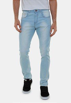 Calça Jeans Masculina Versatti Reta Slim Lavagem Azul Claro Dallas