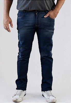 Calça Jeans Masculina Versatti Reta Azul Plus Size Dinamarca A20