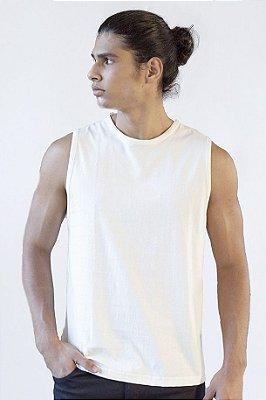 Camiseta Regata Basica Masculina Versatti Branca Rondonia A20