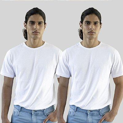 Kit 2 Camisetas Branca Basica Versatti A20