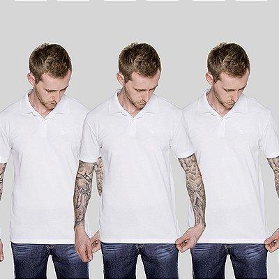 Kit 3 Peças Camisas Polo Brancas Versatti A20