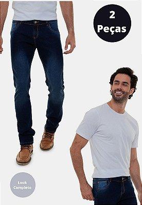Kit com 2 peças Calça Jeans e Camiseta Versatti Argentina
