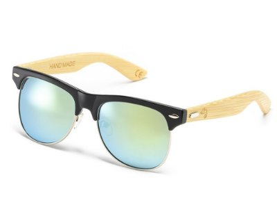 Clubmaster Bamboo Light Blue
