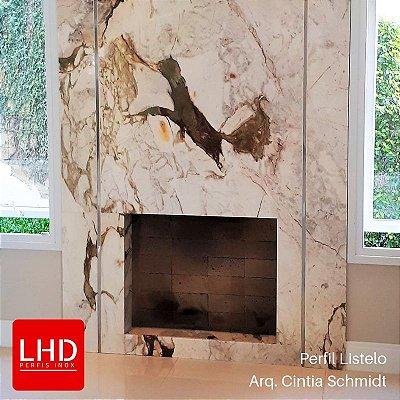 Perfil Listelo Inox para acabamento de porcelanato e azulejo