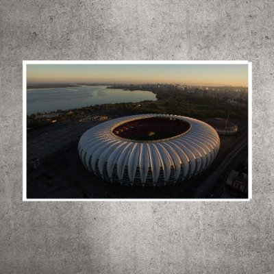 Quadro - Pequeno - Estádio Beira-Rio - Imagem aérea - 60cmx24xcm. BRP5