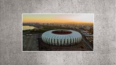 Quadro - Estádio Beira-Rio - Imagem aérea BR03 - 90cmx48cm.