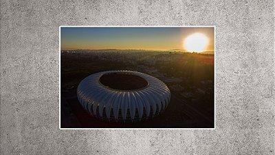 Quadro - Estádio Beira-Rio - Imagem aérea BR06 - 90cmx60xcm.