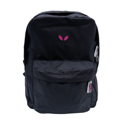 Mochila Feminina Alien black pink com suporte para Notebook