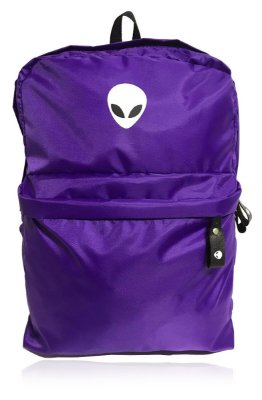 Mochila Alien Purple White com suporte para Notebook