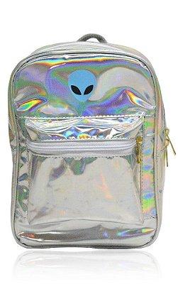 Mini Mochila Holográfica Baby Blue