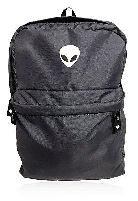 Mochila Alien Gray White com suporte para Notebook