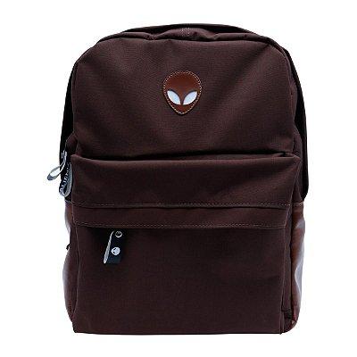 Mochila Alien brown com suporte para notebook