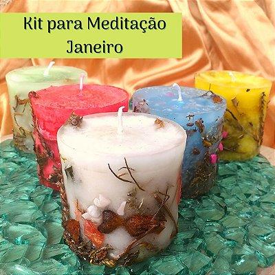 Kit para Meditação  Janeiro - Jornada da Lua