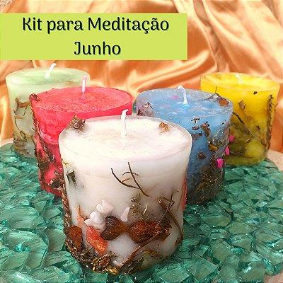 Kit para Meditação em  Junho - Jornada da Lua