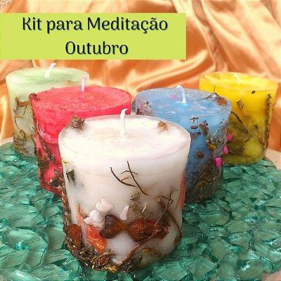 Kit para Meditação em  Outubro - Jornada da Lua