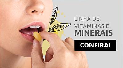 linha de vitaminas e minerais