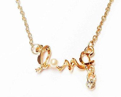 Colar Love folheado à ouro Importado