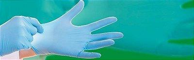 Luvas de procedimentos Nitrílica Azul sem pó - caixa 50 pares - Descarpack