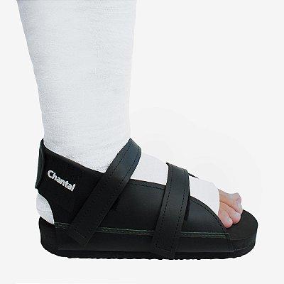 Sandália para Gesso Preta C710 - Chantal
