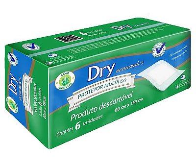 Lençol Protetor de Colchão Descartável Dry Economics 80x150 cm - 6 unids  - Mardam