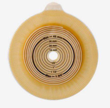 Placa Base Adesiva ALTERNA CONVEX  FLANGE 40mm RECORTE 15mm – Coloplast 46745/ 17743 validade junho 2018
