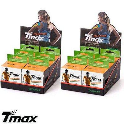 Kit 6 unidades - Bandagem Elástica Funcional Adesiva 5cm x 5m - Tmax