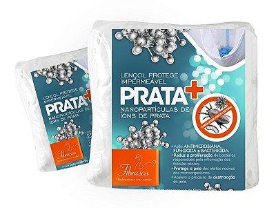 Lençol Protetor Impermeável + Prata - Fibrasca