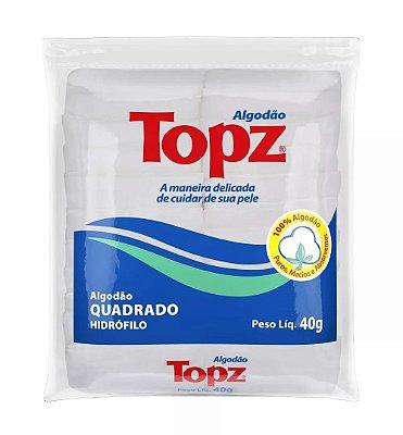 Quadrados de Algodão Hidrófilo - Topz