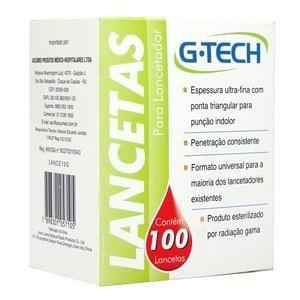 Lancetas para Lancetador 30G - 100 unidades GTECH