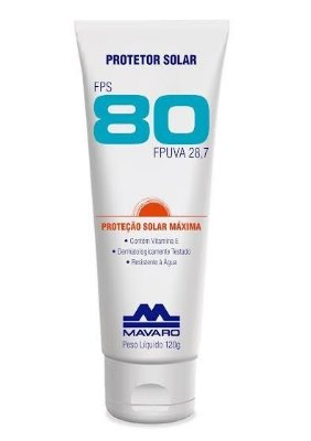 Protetor Solar FPS 80 - 120g - Mavaro